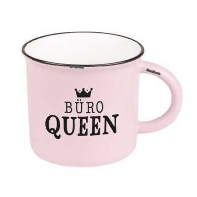 Becher Vintage Büro Queen