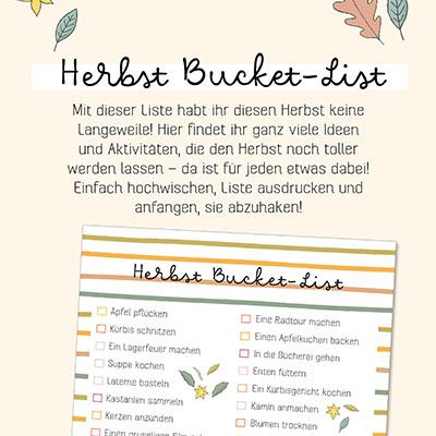 Herbst Bucket-List