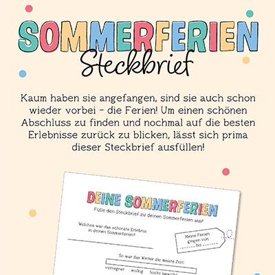 Sommerferien Steckbrief
