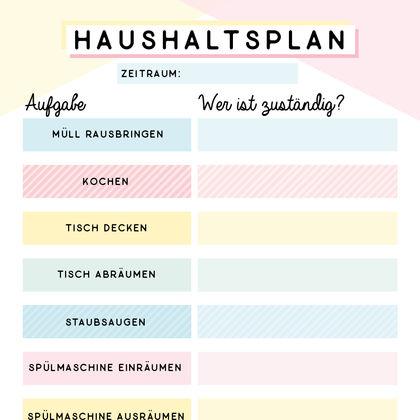 Haushaltsplan